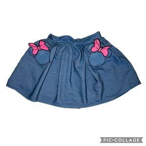 Disney 'MINNIE' Denim 'Pocket' Skirt  6X